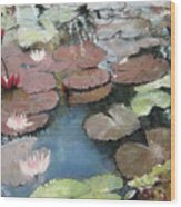 Marcia's Lillies Wood Print