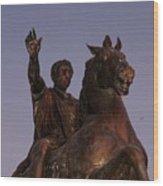 Marcus Aurelius Statue Rome Wood Print