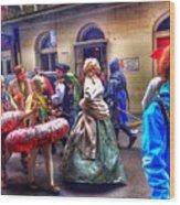 Mardi Gras Craziness Wood Print