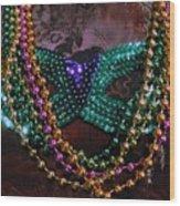 Mardi Gras Feminine Mystique Wood Print