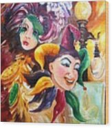 Mardi Gras Images Wood Print