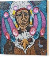 Mardi Gras Indian Apron Detail Wood Print