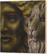 Mardi Gras Lion Wood Print