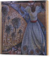 Mardi Gras Megillah Wood Print by Barbara Nesin