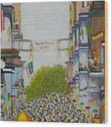 Mardi Gras On Bourbon Street Wood Print