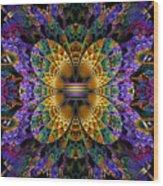 Mardi Gras Split Crop Wood Print