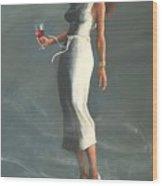 Mardis Gras Woman Wood Print