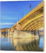 Margaret Bridge Budapest Wood Print