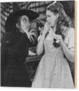 Margaret Hamilton And Judy Garland In The Wizard Of Oz 1939 Wood Print