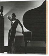 Margaret Horan Posing Beside A Piano Wood Print