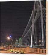 Margaret Hunt Hill Bridge Dallas Wood Print