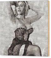 Margaret Nolan, Carry On Actress Wood Print