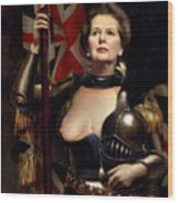 Margaret Thatcher Nude Wood Print