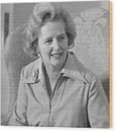 Margaret Thatcher Wood Print