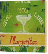 Margaritas Wood Print
