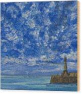 Margate Sea And Sky Wood Print