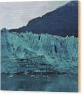 Margerie Glacier - Reflection Wood Print