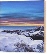 Marginal Way Presunrise Christmas Eve Wood Print