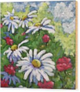 Marguerites 002 Wood Print