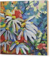 Marguerites Wood Print