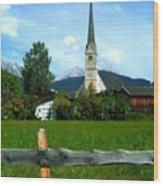 Maria Alm Wood Print
