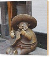 Mariachi Sculpture Wood Print