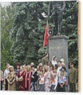 Mariage Under Lenin's Protection Wood Print