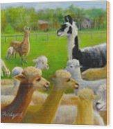 Mariah Guards The Herd Wood Print