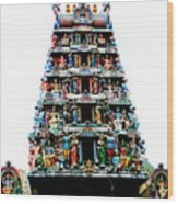 Mariamman Temple 4 Wood Print