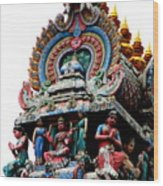 Mariamman Temple Detail 3 Wood Print