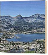 Marie Lake Panorama From High Above - John Muir Trail Wood Print