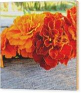 Marigolds Wood Print
