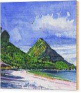 Marigot Bay St Lucia Wood Print