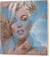 Marilyn 127 Tryp Wood Print by Theo Danella