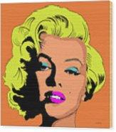 Marilyn-3 Wood Print