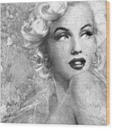 Marilyn Danella Ice Bw Wood Print