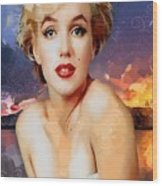 Marilyn Hotty Totty Wood Print