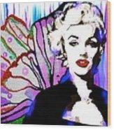 Marilyn In Love Wood Print