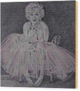 Marilyn In Pink Wood Print