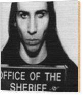 Marilyn Manson Mug Shot Vertical Wood Print