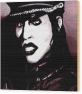 Marilyn Manson Portrait Wood Print