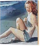 Marilyn Mermaid Fragmented Wood Print