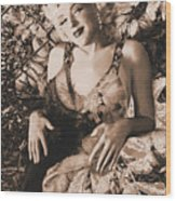 Marilyn Monroe 126 A 'sepia' Wood Print