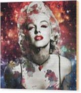 Marilyn Monroe   Colorful  Wood Print