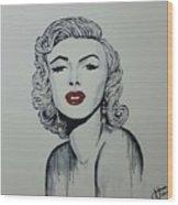 Marilyn Monroe Dripping Wood Print