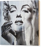 Marilyn Monroe Wood Print by Fatima Azimova