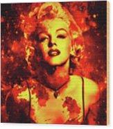 Marilyn Monroe   Golden  Wood Print