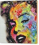 Marilyn Monroe II Wood Print by Dean Russo
