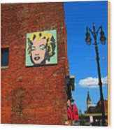 Marilyn Monroe In Detroit Wood Print by Guy Ricketts