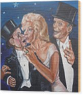 Marilyn Monroe Marries Charlie Mccarthy Wood Print